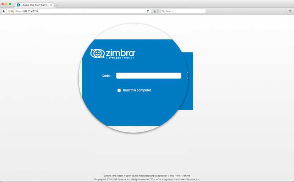 Zimbra-Collaboration-2FA-webmail